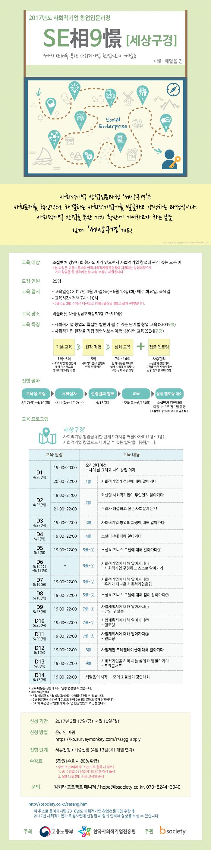 2017 사회적기업 창업입문과정 'SE相9憬(세상구경)'