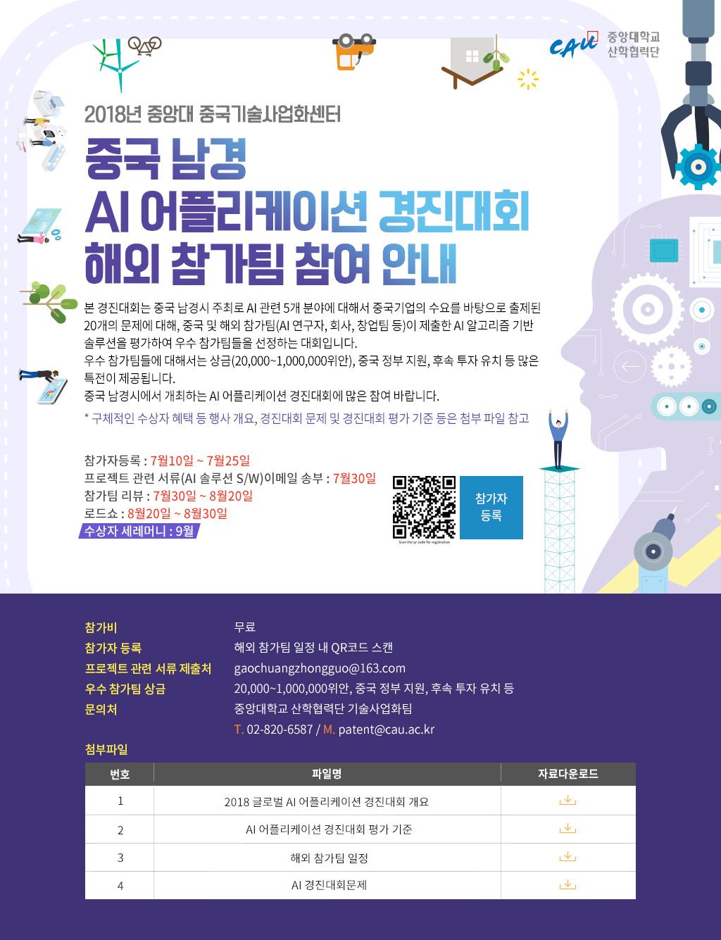 [홍보]2018년 중국 남경 AI 어플리케이션 경진대회 해외 참가팀 참여 안내