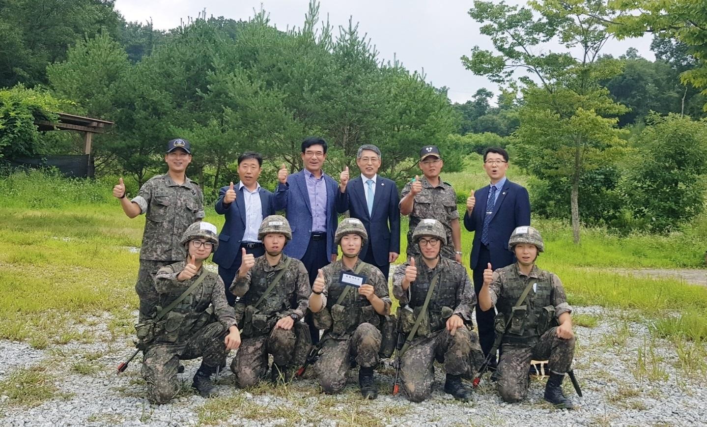 '19년 총장님 육군학생군사학교 방문