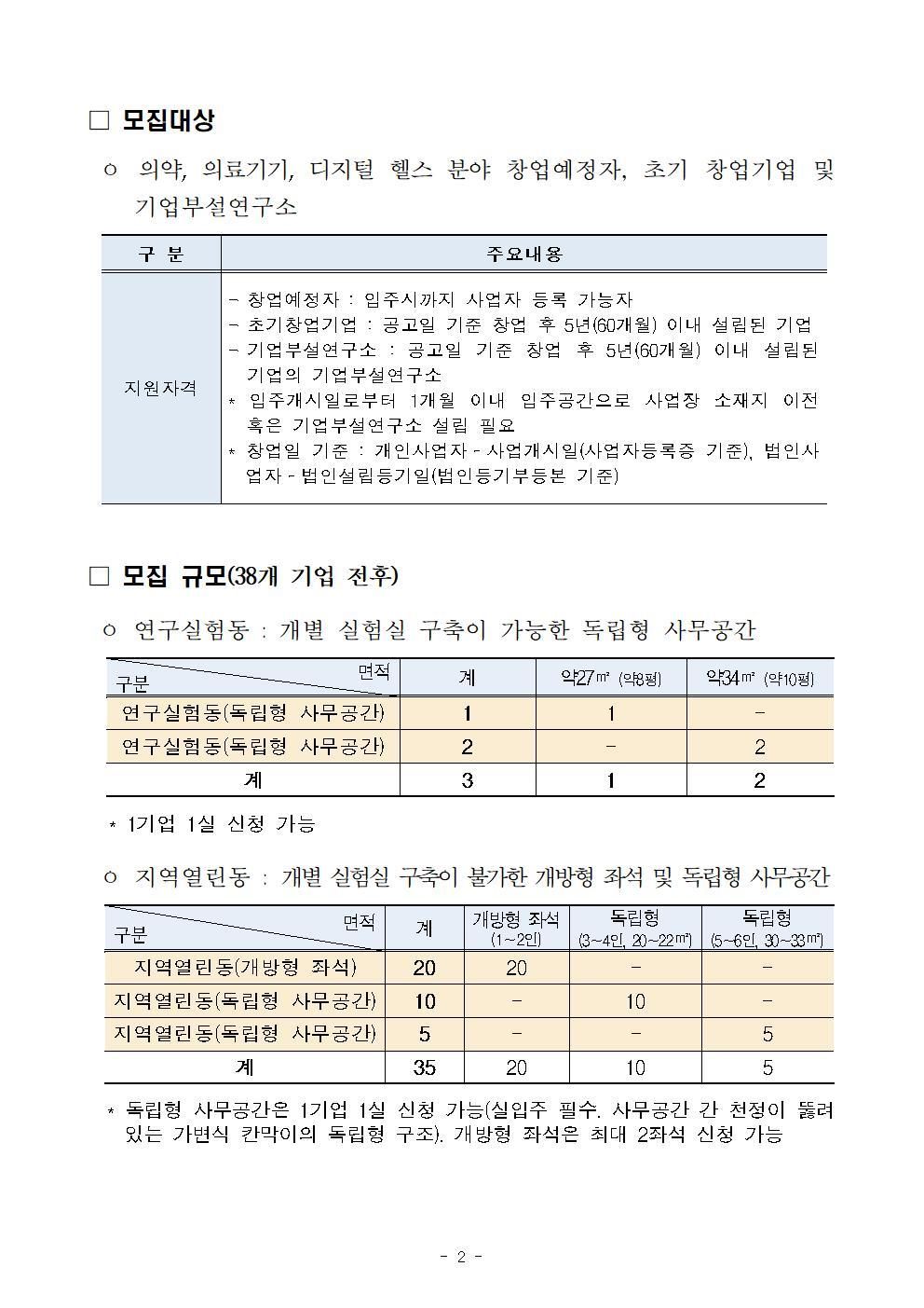 2019년 서울바이오허브 혁신 창업기업 모집 공고_final002